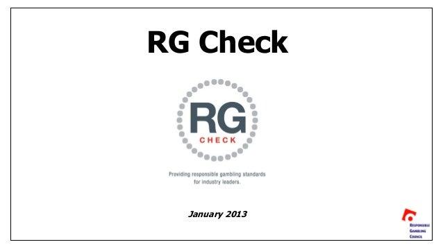 Kevin Noel - RG Check: Providing Responsible Gambling Standards Slide 3