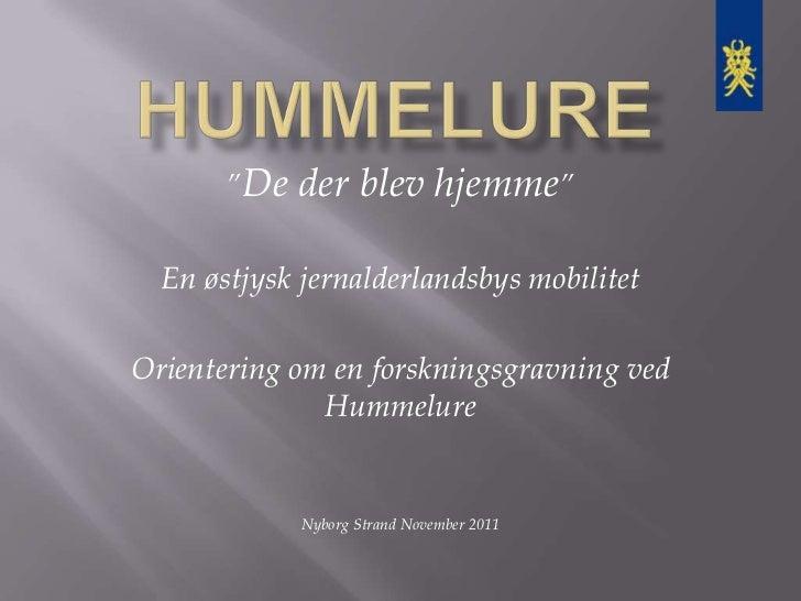 """""""De   der blev hjemme""""  En østjysk jernalderlandsbys mobilitetOrientering om en forskningsgravning ved              Hummel..."""