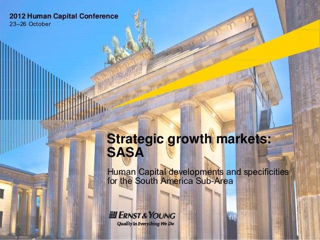 2012 Human Capital Conference23–26 October                          Strategic growth markets:                          SAS...