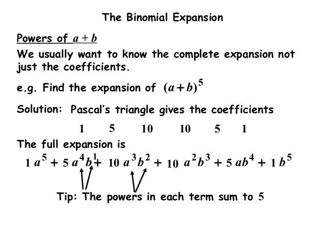 how to find coefficient of x in binomial expansion