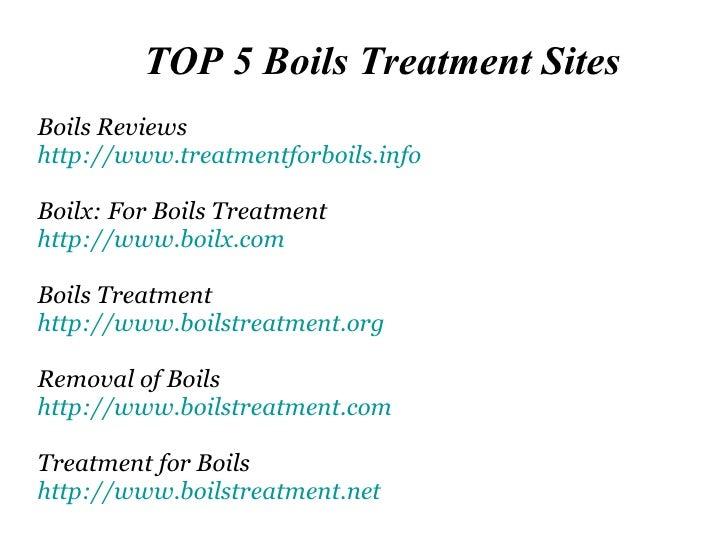 Top 5 Sites On Boils Treatment