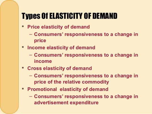 A Elasticity Of Demand