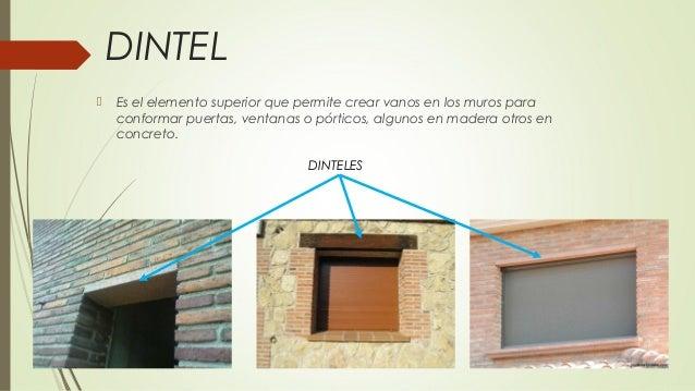 Elementos de una estructura - Dinteles de madera ...