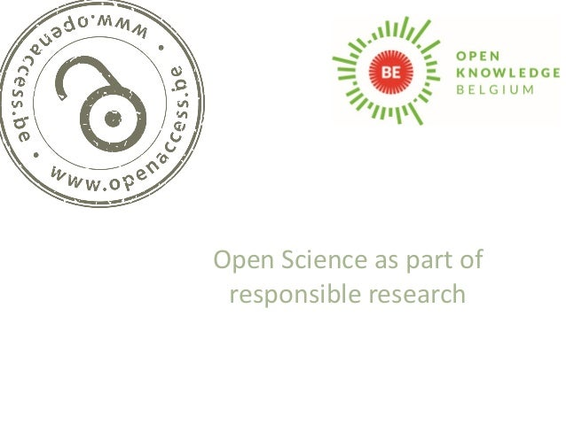 Open Science as part of responsible research
