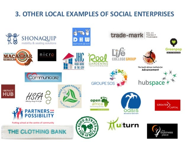 Introduction To Social Enterprises In South Africa 6 May 2016