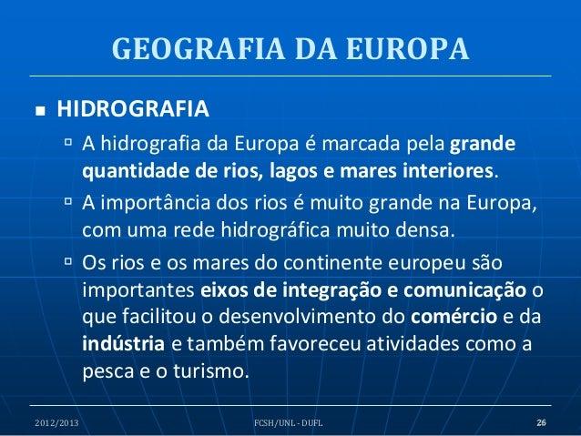 geografia da europa - geografia f u00edsica