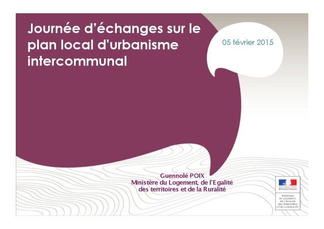 2 1   2   3   Enjeux  et  intérêts  des  PLUi   Etat  des  lieux  des  PLUi  :  bilan  et  ...