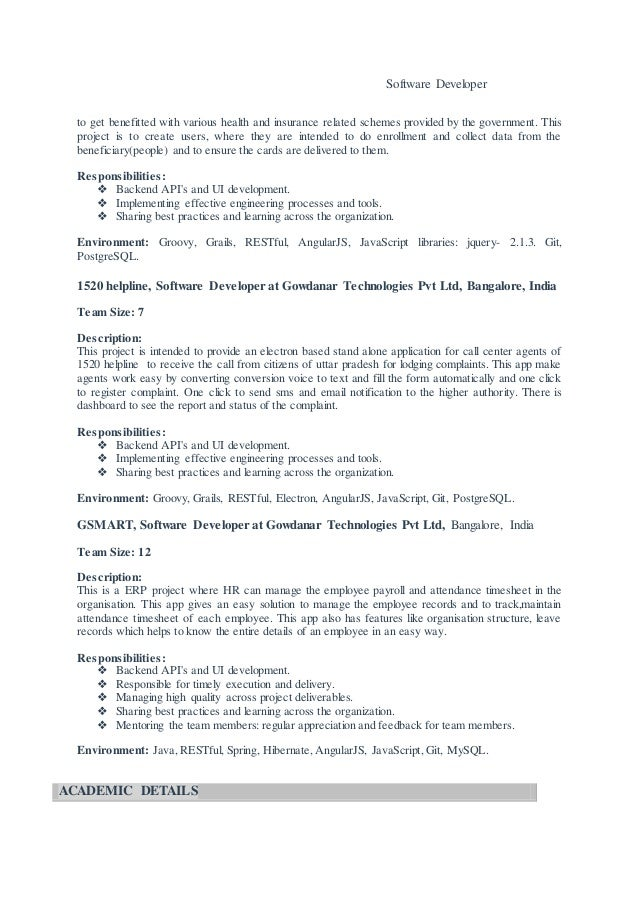 Rakesh - Java Resume