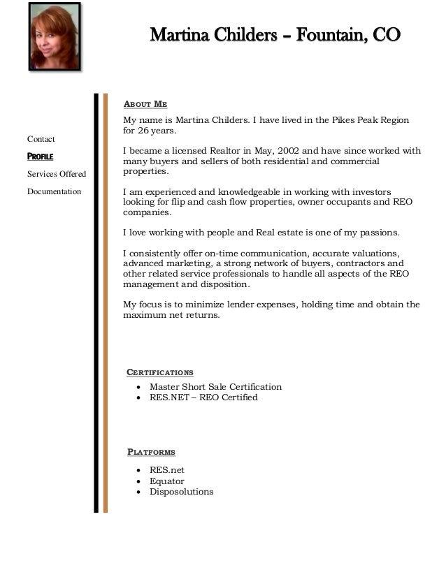 Martina Childers Marketing Package resume 2016