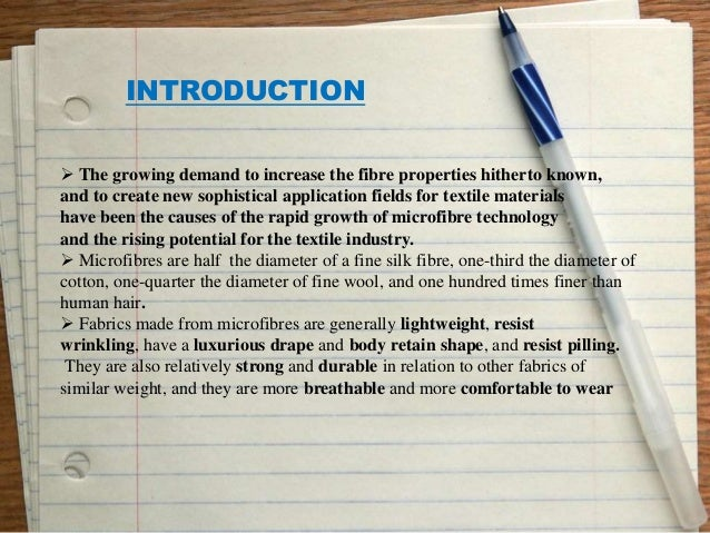 A Seminar On Chemical Processing Of Micro Denier Fabrics