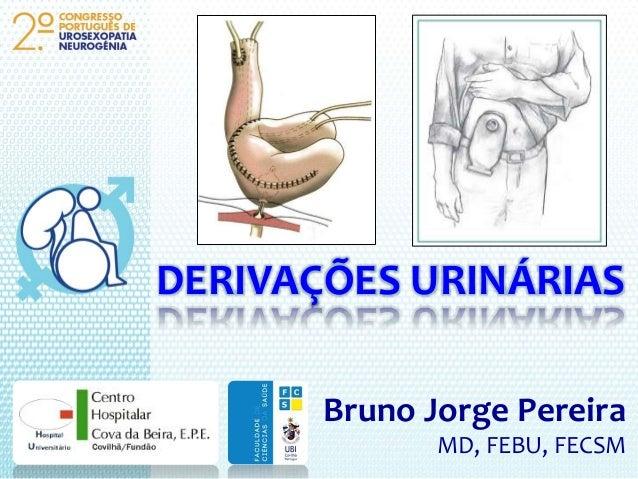 DERIVAÇÕES URINÁRIAS Bruno Jorge Pereira MD, FEBU, FECSM