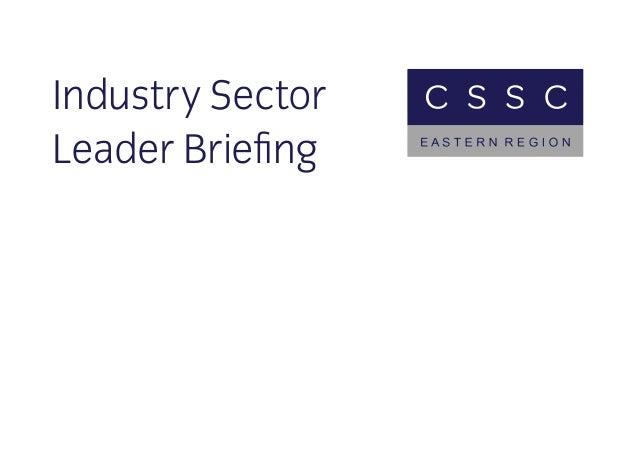 Industry Sector Leader Briefing
