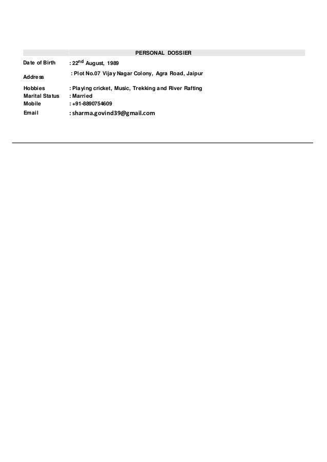 govind resume  1