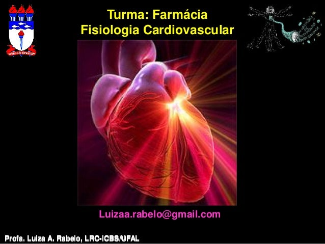 Turma: Farmácia                    Fisiologia Cardiovascular                         Luizaa.rabelo@gmail.comProfa. Luiza A...