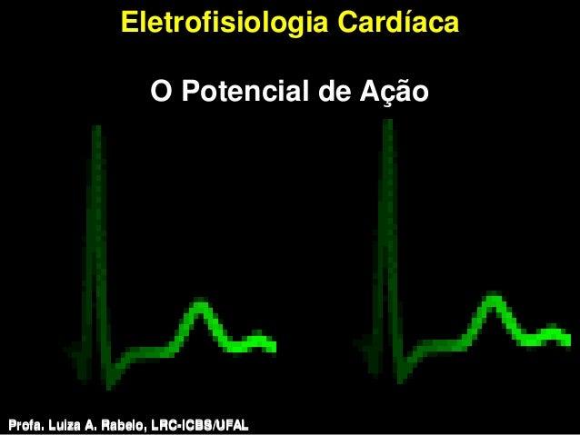 Eletrofisiologia Cardíaca                     O Potencial de AçãoProfa. Luiza A. Rabelo, LRC-ICBS/UFAL   Profa. Luiza A. R...