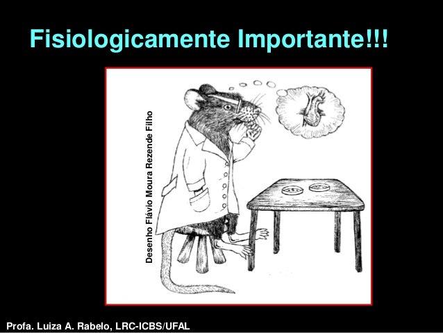 Fisiologicamente Importante!!!                            Desenho Flávio Moura Rezende FilhoProfa. Luiza A. Rabelo, LRC-IC...