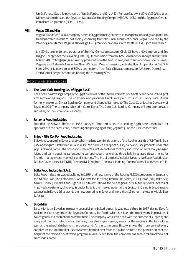 8 of 15 | P a g e UniónFenosaGas,ajointventureof UniónFenosaandEni.UniónFenosaGasowns80%ofSEGASshares. Minorshareholdersar...