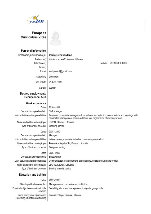 Sample resume foreign language