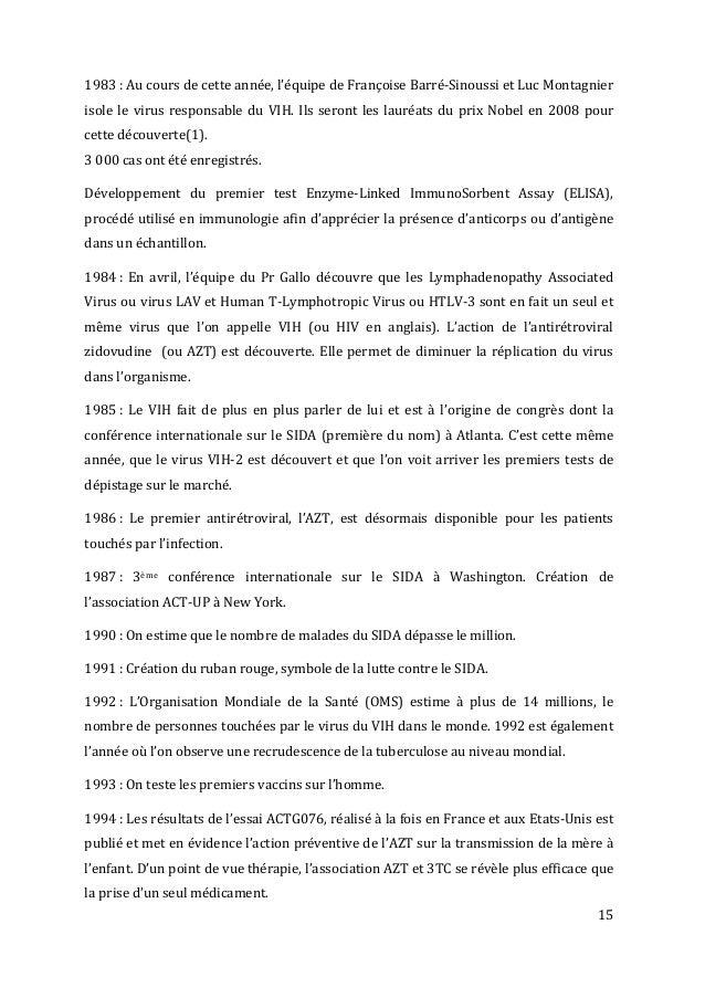 15      1983  :  Au  cours  de  cette  année,  l'équipe  de  Françoise  Barré-‐Sinoussi  ...