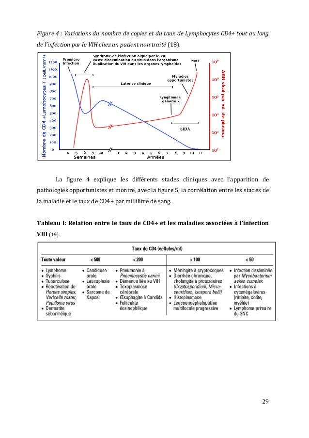 29   Figure  4  :  Variations  du  nombre  de  copies  et  du  taux  de  Lymphocytes  C...
