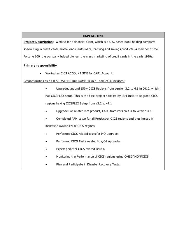 systems programmer resume