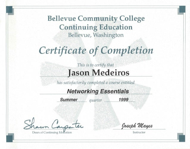 BCC MCSE Courses