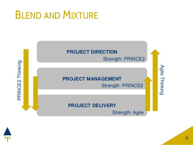 BLEND AND MIXTURE 15 PROJECT DIRECTION Strength: PRINCE2 PROJECT DELIVERY Strength: Agile PROJECT MANAGEMENT Strength: PRI...