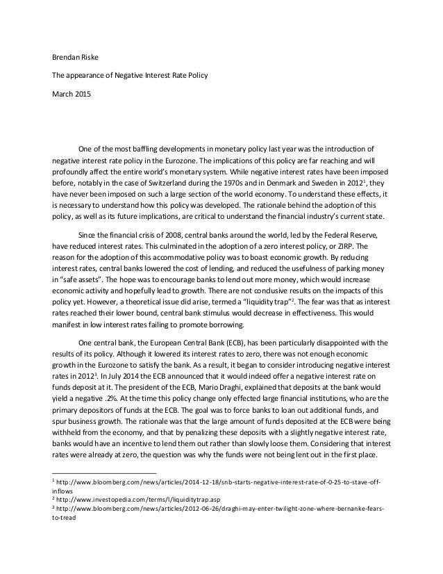 Essay about interest