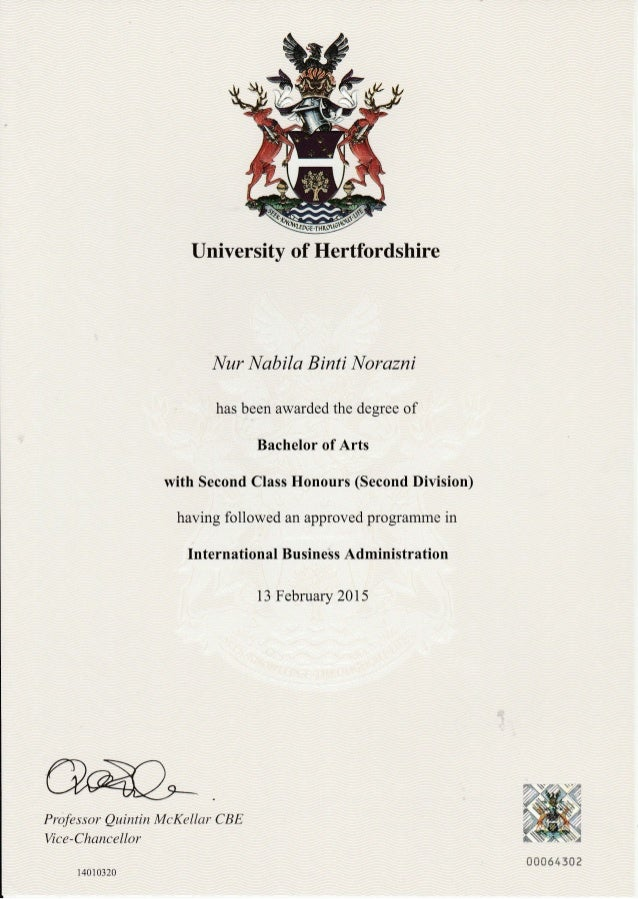 certificates and transcripts