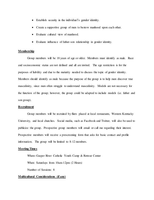 Group Proposalcurriculum Template For Group Counseling