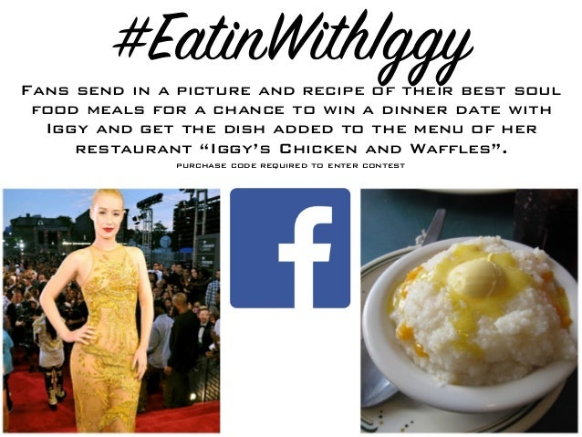#EatinWithIggyFans send in a picture and recipe of their best soul food meals for a chance to win a dinner date with Iggy ...