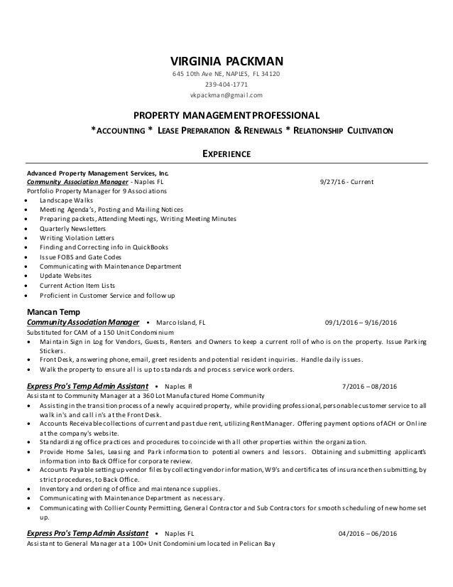 Association Manager Resume