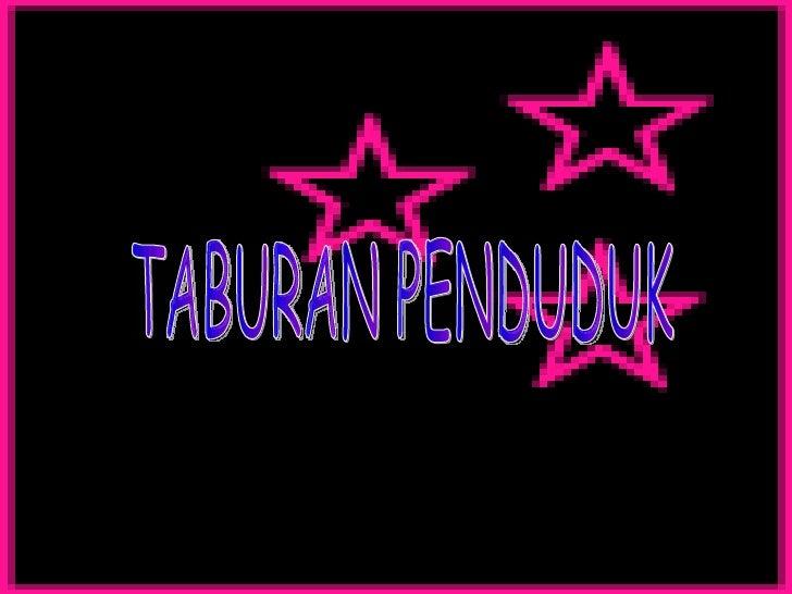 TABURAN PENDUDUK
