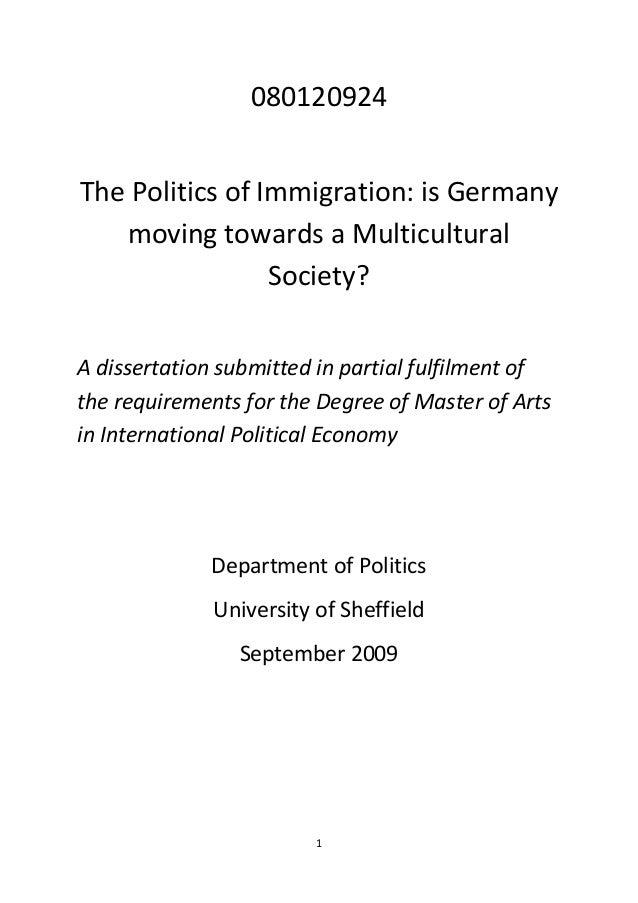 Politics dissertation