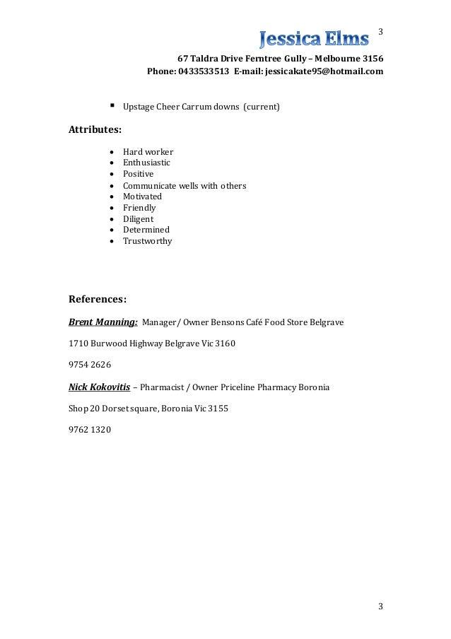 Resume Update November 2015