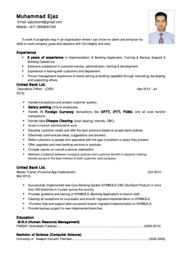 Operation Officer Cv Doc