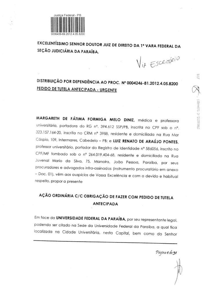 Ação Judicial contra o Consuni