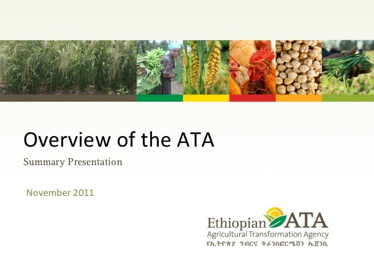 Overview of the ATA  November 2011 Summary Presentation