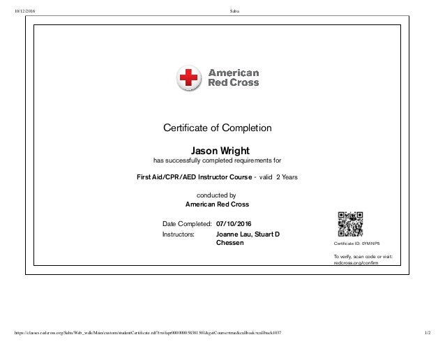 Free Professional Resume Red Cross Cpr And First Aid Certification