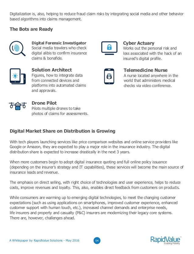 Digitizing Insurance A Whitepaper By RapidValue Solutions