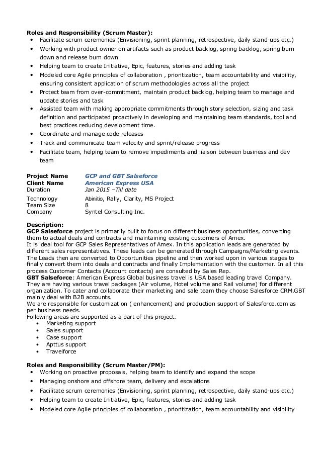 SlideShare  Agile Project Manager Resume