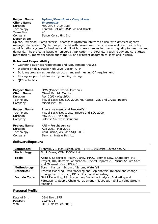 rahul sarve resume project manager