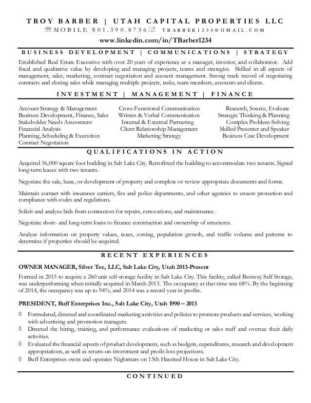barber  troy resume jan 2015
