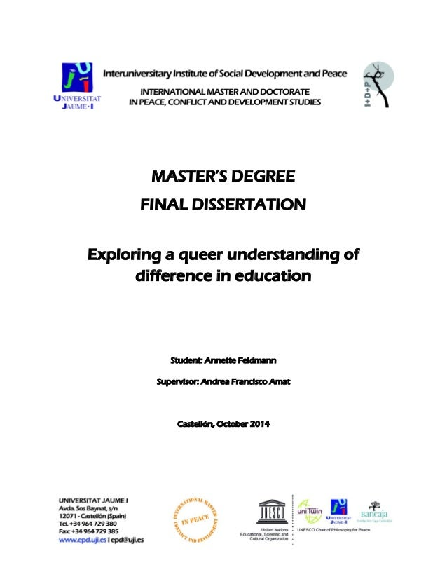 Dissertation front page latex