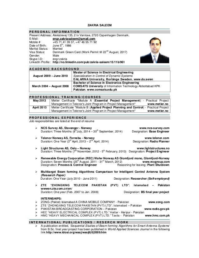 Magnificent Norway Engineering Resume Illustration - Administrative ...