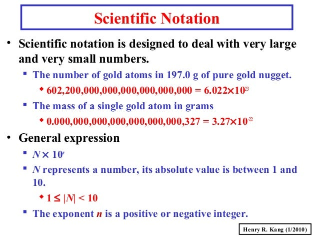 Exponential Atomic Mass: GC-S004-ScientificNotation
