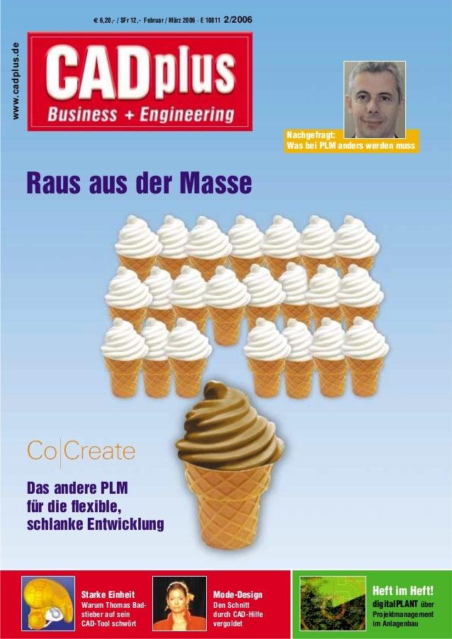 € 6,20,- / SFr 12,- xxxxxxxxxxx 2005 · E 10811 3/2005 Starke Einheit Warum Thomas Bad- stieber auf sein CAD-Tool schwört M...
