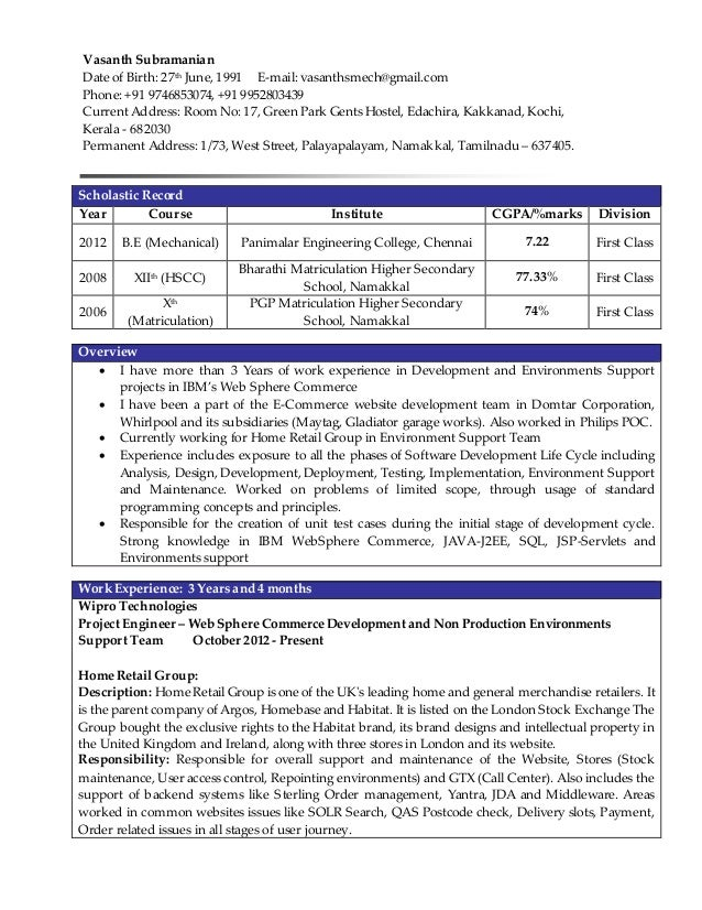 websphere developer resume