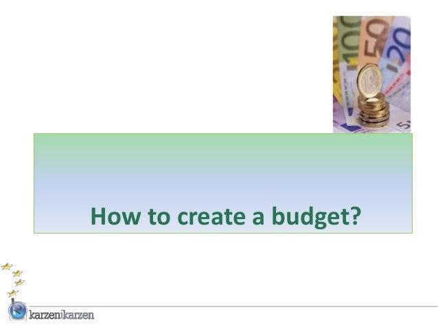 How to create a budget?