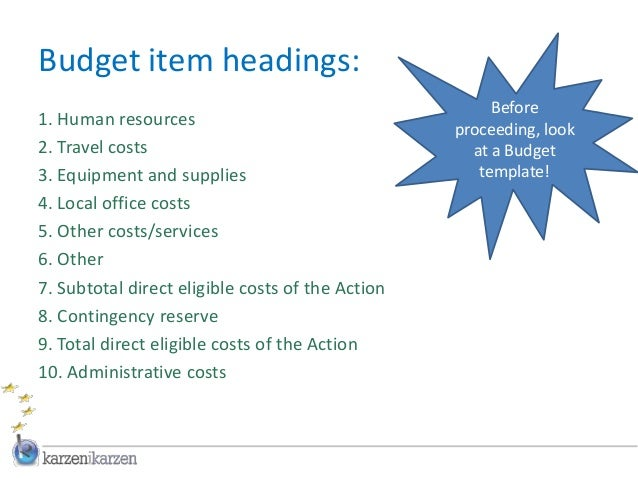 office budget template